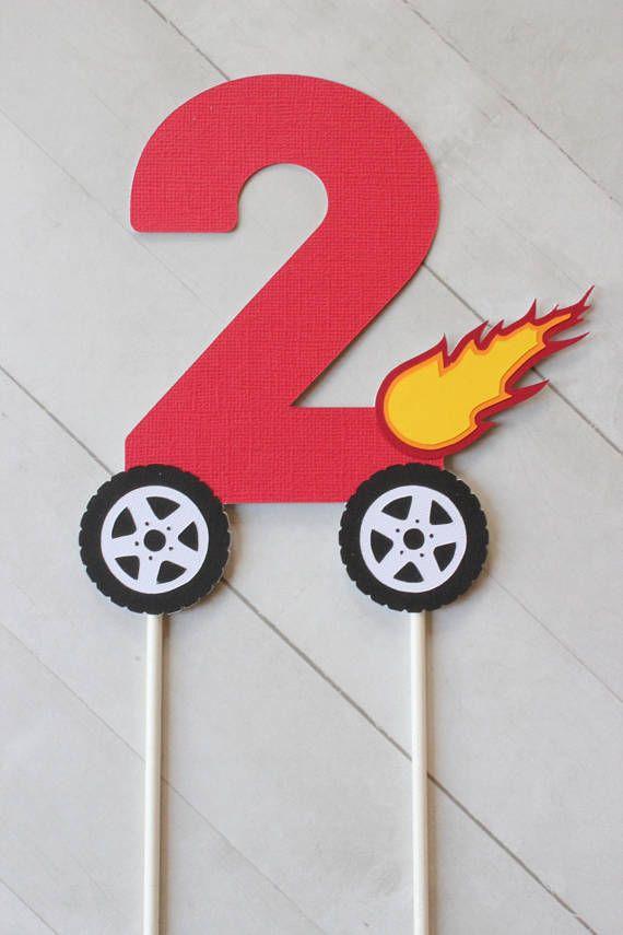 Monster Truck Inspired Number Cake Topper Blaze And The Monster