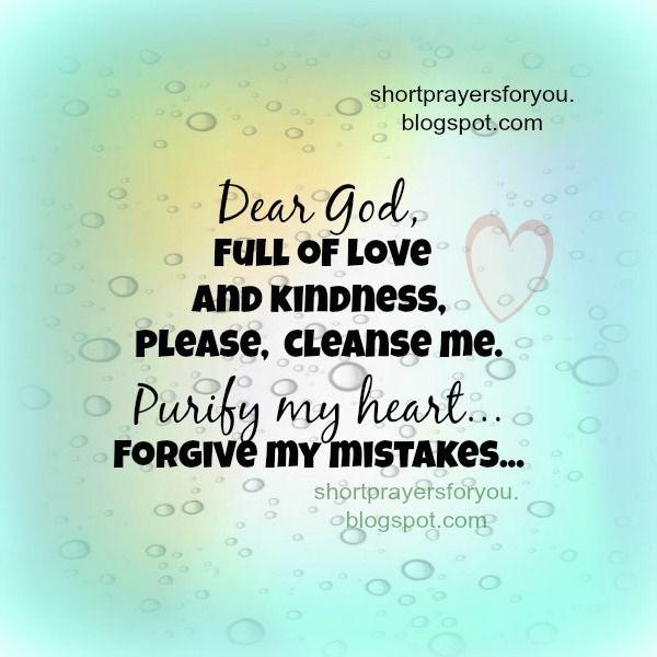 Dear God, forgive my mistakes short prayer | Short Prayers for You ...