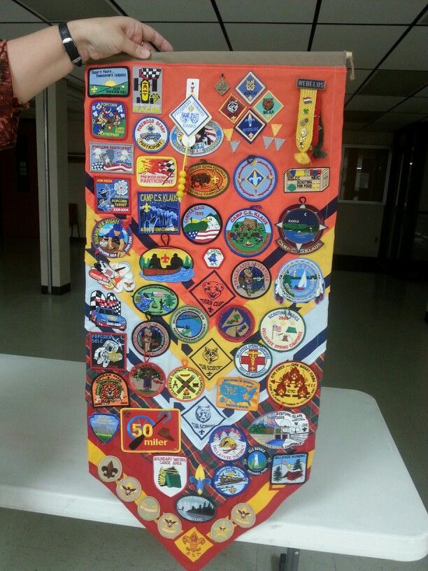 Cool idea for a commemorative cub scout keepsake