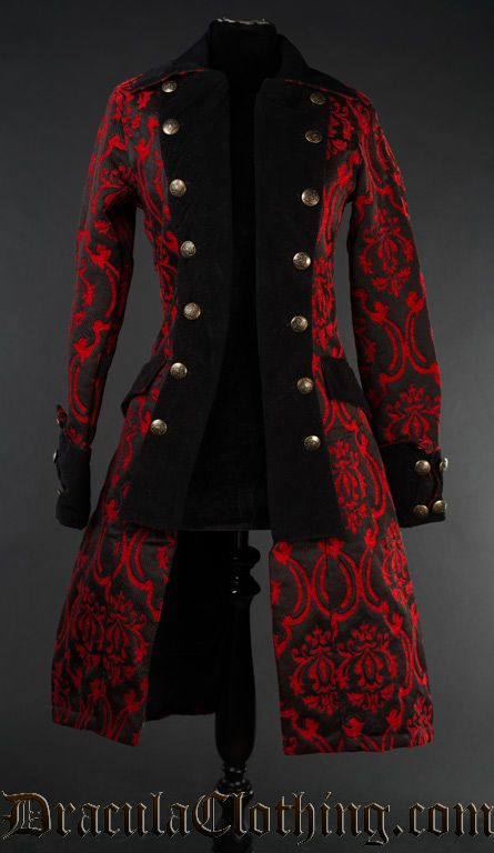 Red Pirate Princess Coat Gothic Fashion Gothic Outfits