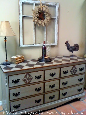Painting designs on old furniture to fit into your decor