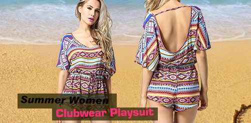 Summer Women Sexy Clubwear Playsuit Bodycon Jumpsuit Romper Trousers