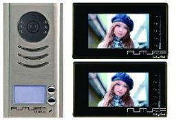Futura-KIT591-47/22, 7 colos színes LCD kijelzővel.  http://tarsashazikaputelefonok.hu/termek/futura-kit591-4722/