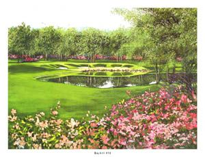 BAY HILL GOLF CLUB #18 Limited Edition Golf Poster Print - by Nancy Raborn - Bay Hill Invitational ~available at www.sportsposterwarehouse.com