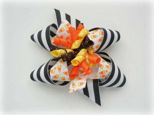 Inside out bow: Hairbows, Bow Tutorial, Halloween Bows, Bows Bows, Hair Bows, Craft Ideas, Crafts