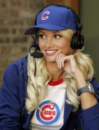 Holly Madison. Omg CUTE baseball game outfit!
