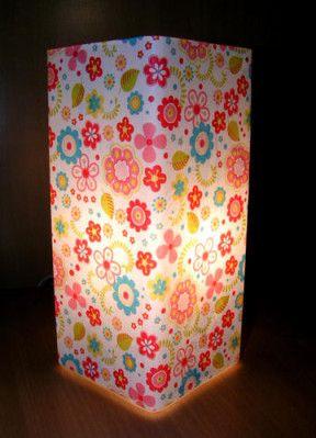 Lampe en verre et papier Decopatch