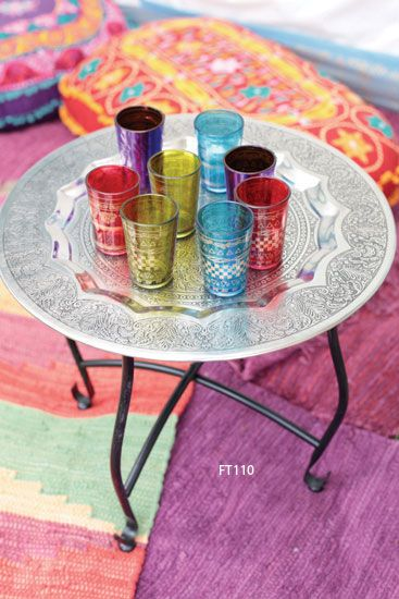 arabic table with tea cups. www.asilahventures.com