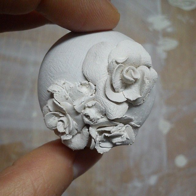 #springiscoming #rose #porcelain #porcelainjewellery #spring #beads