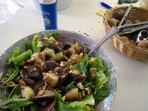 Recept Salade gésiers de canard = Salade met eendenmaagjes zelf maken | deHardeGarde