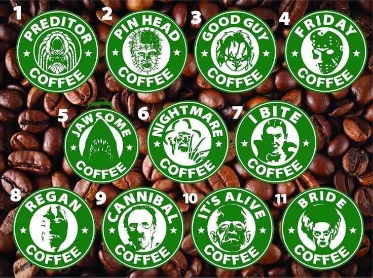 Starbucks Inspired Hooror COFFEE Logos Vinyl Decal