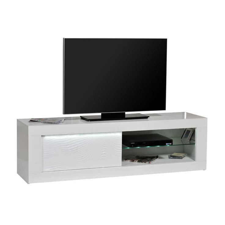 Fernsehtisch Mit LED Beleuchtung Weiß Hochglanz Jetzt Bestellen Unter:  Https://moebel.