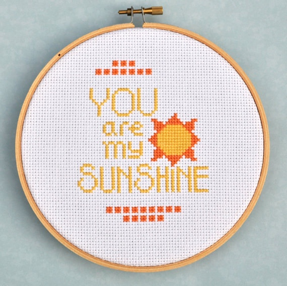 You Are My Sunshine Counted Cross Stitch Pattern by Sewingseed, $4.00