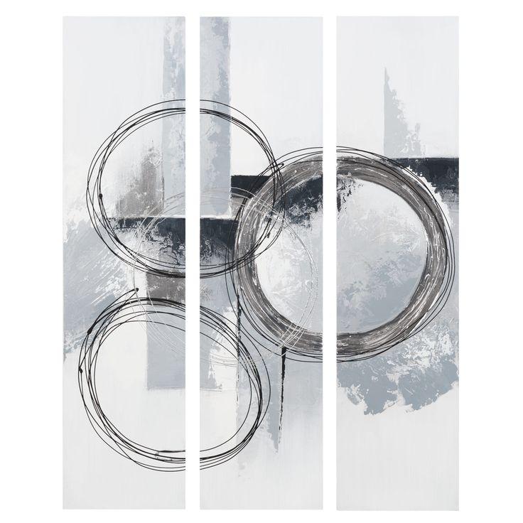 Maison du monde Triptyque argentée 75 x 100 cm ABSTRACT CIRCLE 79,99 €