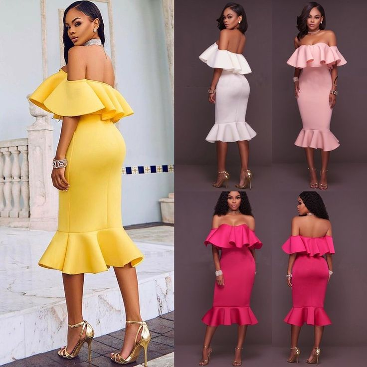 Women Bandage Bodycon Ruffle Sleeve Evening Party Cocktail Pencil Mini Dress NEW #Unbranded #Sexy #CasualPartyCocktail