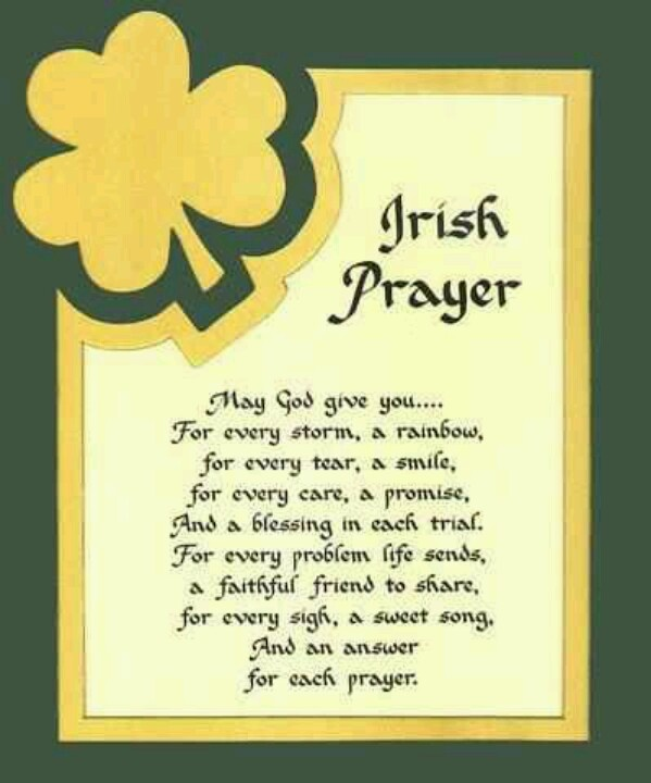 Irish Prayer, St. Patrick's Day