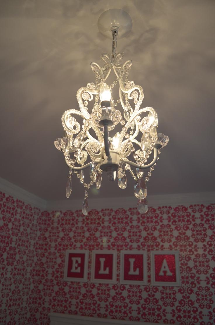 10 best nursery chandeliers images on pinterest mini chandelier clear mini chandelier for the nursery arubaitofo Images