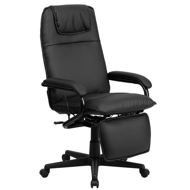 Offex High Back Black Leather Executive Reclining Office Chair [OF-BT-70172-BK-GG]