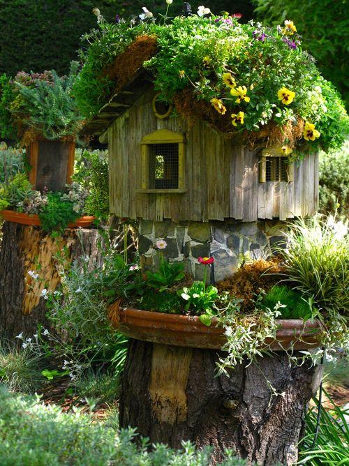 A Garden Fairy Cottage on We Heart It...
