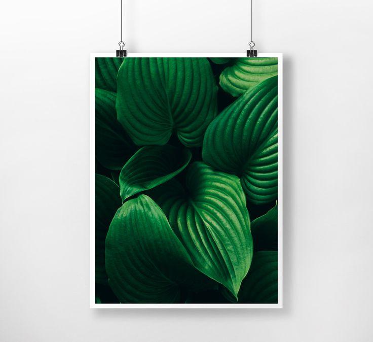 Dark Green Plants Instant Download Digital Print , minimal, Nature, Wall Decor, Botanical Art, Large Printable Poster, Modern, Minimalist by PrintingDots on Etsy