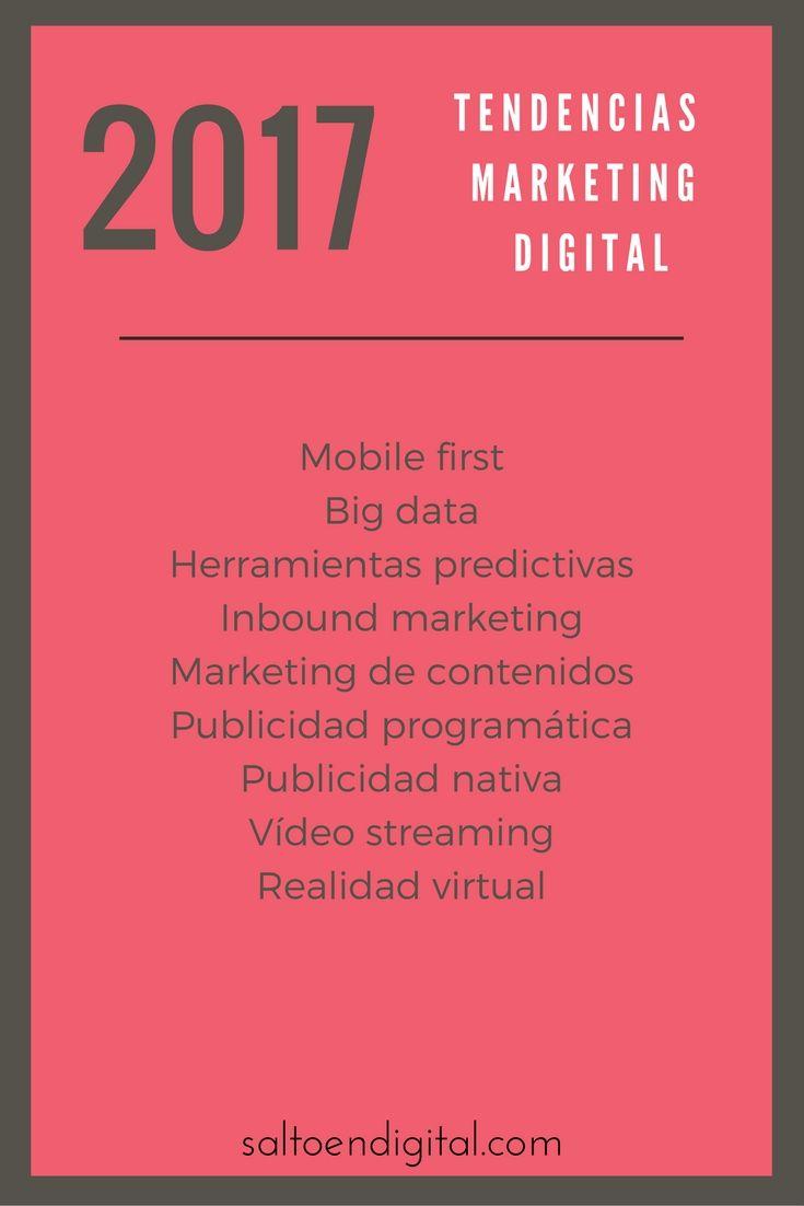 Tendencias en marketing digital para 2017. Cuáles serán las nuevas oportunidades de negocio y mi visión de cada una de ellas.