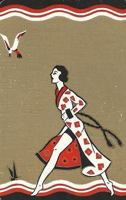 VINTAGE SWAP PLAYING CARD DECO LADY | eBay