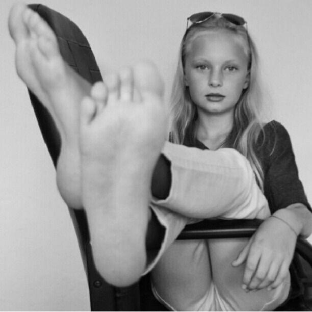 Black teen foot