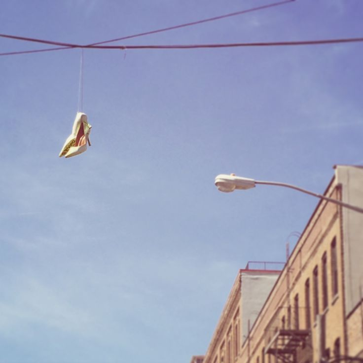 Brooklyn - shoes in the air -