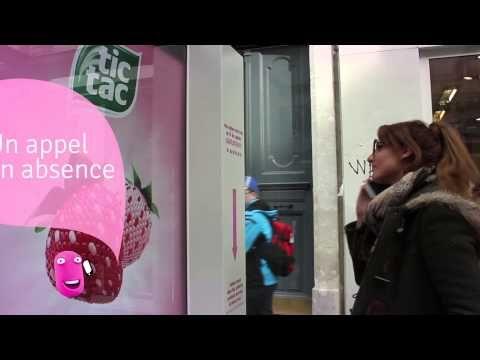 Acción BTL de Tic Tac. JCDecaux France : Innovate for Tic Tac