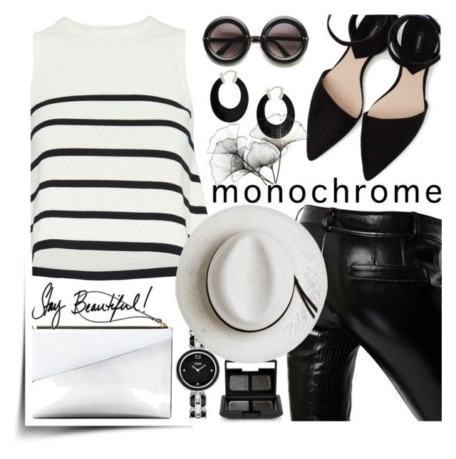 """""""BW"""" by jecakns ❤ liked on Polyvore featuring Cardigan, Each X Other, Bling Jewelry, MANGO, Marni, NARS Cosmetics, River Cottage Gardens, Fendi, Calypso Private Label and monochrome"""