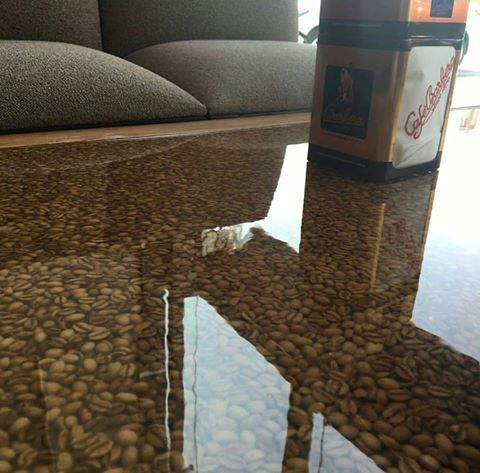 Best 25 epoxy countertop ideas on pinterest diy epoxy for Diy coffee bar table