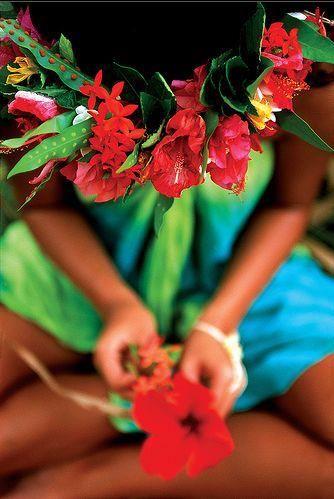 Taviri Hei tahiti couronne de tête Tahiti ☀