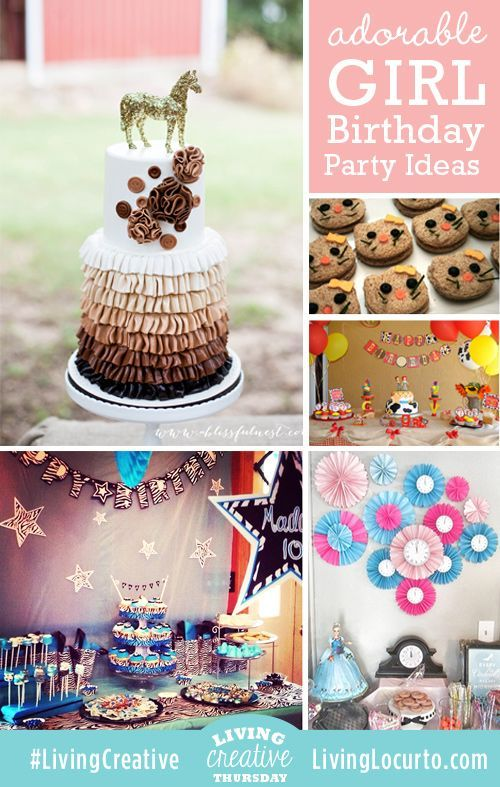 Adorable Girl Birthday Party Ideas Birthday Party