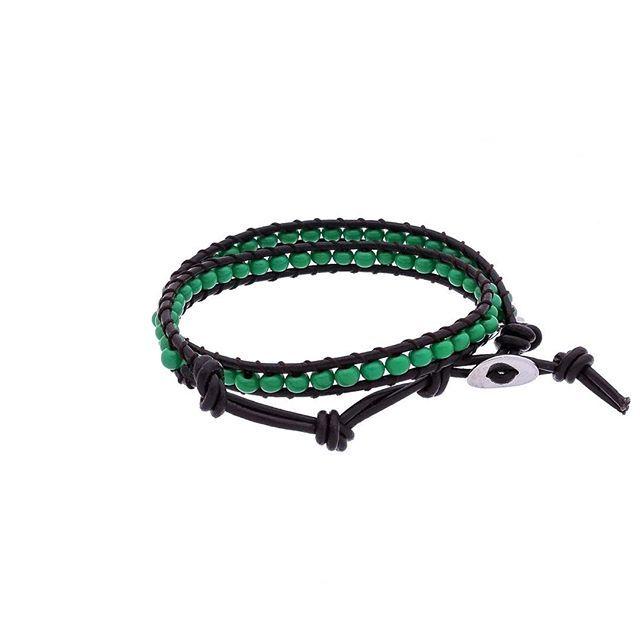 Pulseira Shanlu Green - Miçangas de Cerâmica.