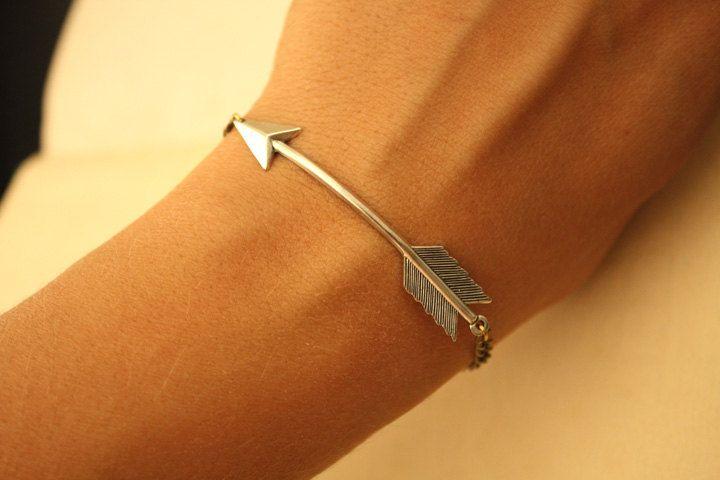 Silver Arrow BRACELET by iadornu on Etsy: Arrows, Fashion, Style, Bracelets, Hunger Games, Pi Phi, Arrow Bracelet, The Hunger Game