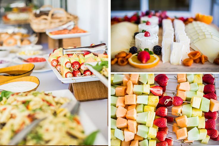 Summer fruits and cheeses, wedding food