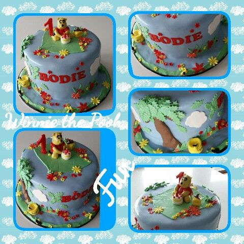 Whinny the pooh cake  #firstbithday #caksbykathleen