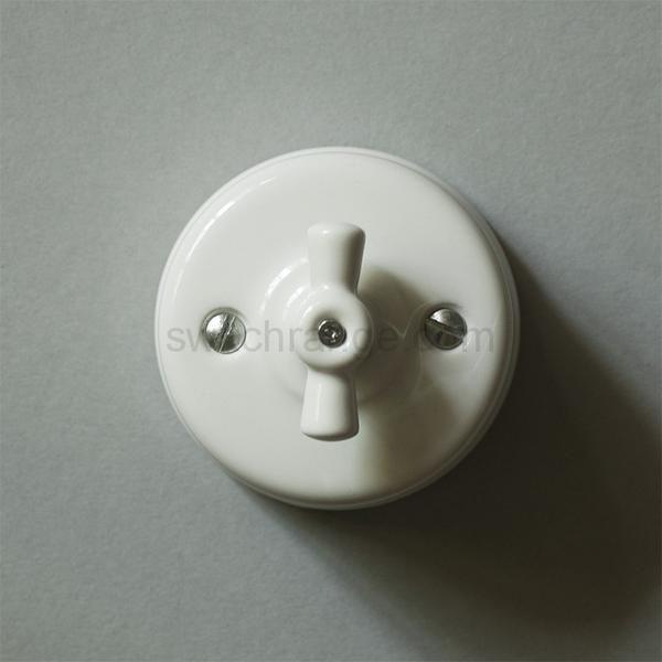 ceramic switch #ceramic #glazed #porcelain #rotary #switch #wall