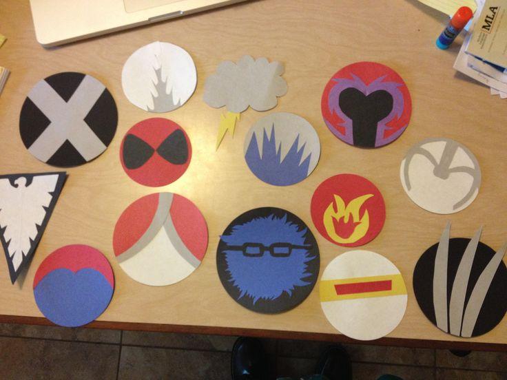 X-Men Superhero Door Tags.  X-Men Logo, Angel, Storm, Magneto, Deadpool (I know he's not exactly x-men but he's not exactly NOT x-men) Ice-man, Pyro, Professor X (in cerebro), Phoenix, Mystique, Rogue, Beast, Cyclops and Wolverine.