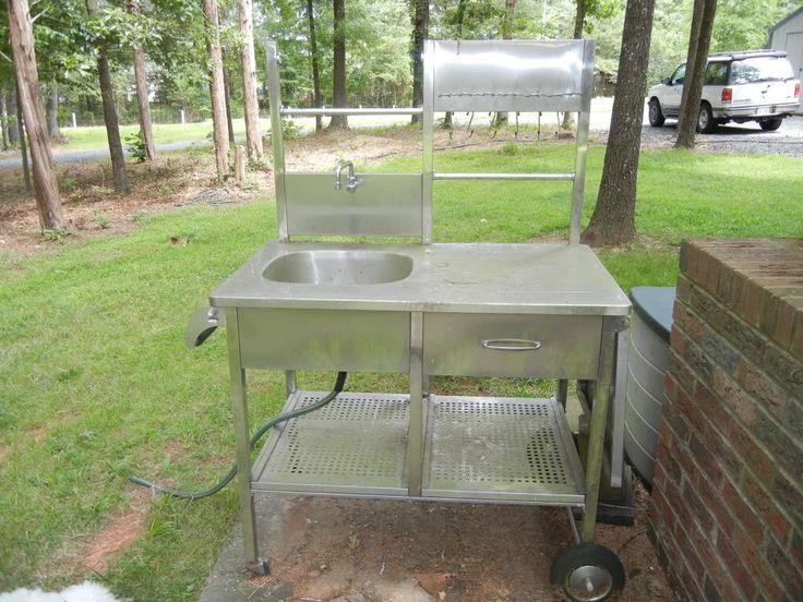 Ideas for outdoor sink survivalist forum outdoor for Homemade fish cleaning table