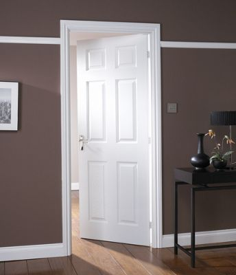 Colonial 6 Panel Pre-Painted Internal Door - 686mm Wide