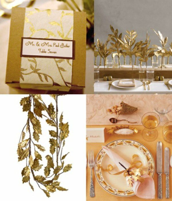 Golden decoration ideas Thanksgiving