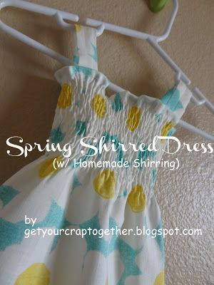 Get Your Crap Together: Spring Shirred Dress (w/ Homemade Shirring) & Giveaway
