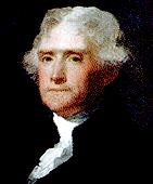Thomas Jefferson  (April 13, 1743 - July 4, 1826) was the third (1801 - 1809) President of the United States.         Order: 3rd President Term of Office: 	March 4, 1801 - March 4, 1809   Followed: 	John Adams   Succeeded by: 	James Madison   Date of Birth 	April 13, 1743   Place of Birth: 	Shadwell, Virginia   Date of Death: July 4, 1826   Place of Death: 	Monticello, Virginia   Wife: Martha Wayles Jefferson   First Lady : Martha Jefferson Randolph (daughter) Dolley Madison (frie...