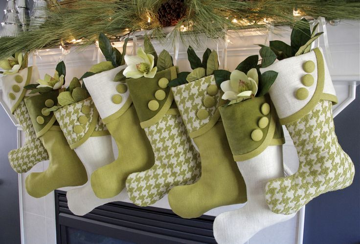 Christmas stockings you can buy but i like the colors and would like to try to make some like this! HoundstoothGroup