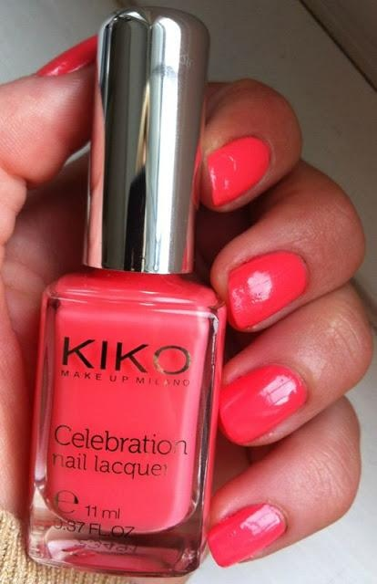 Nails Of The Day - Kiko Make Up Milano Celebration Nail Lacquer - 419 Coral Red