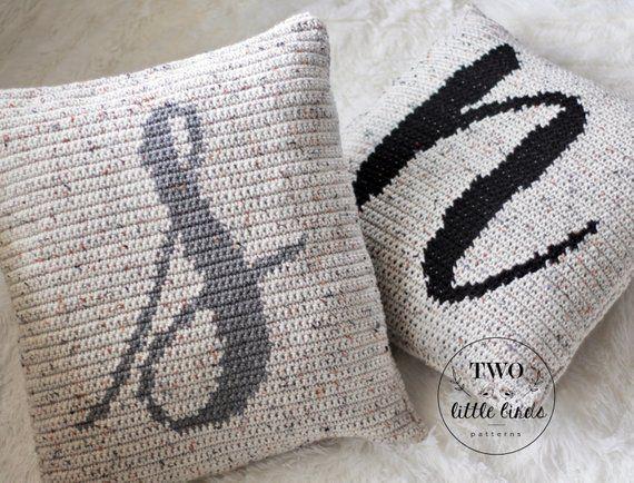 crochet monogram pillow pattern