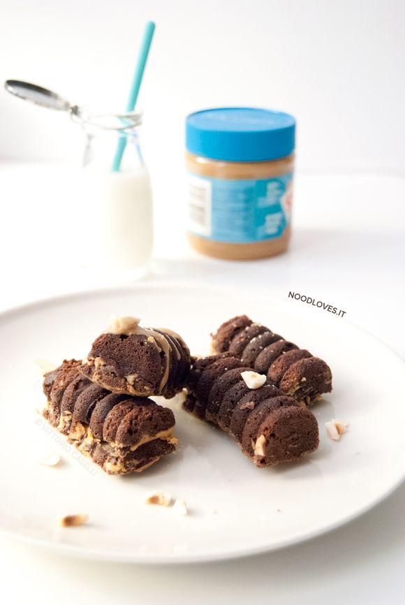 Snickers Brownies al burro di arachidi