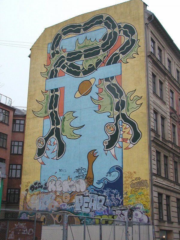 Dragon and grafitti