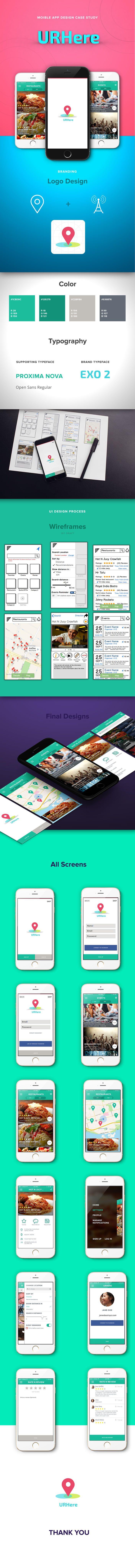 URHere | iOS App Design